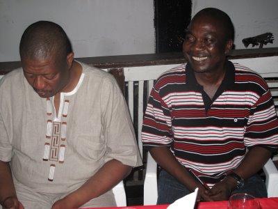 Waheshimiwa Charles Hillary na Issa Michuzi